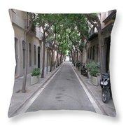 Barcelona Barrio Throw Pillow