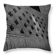 Barcelona Brick Wall Throw Pillow