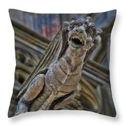 Barcelona Dragon Gargoyle Throw Pillow