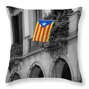 Barcelona - Estelada Throw Pillow