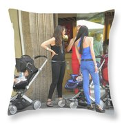 Barcelona Moms Throw Pillow
