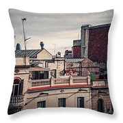 Barcelona Roofscape Throw Pillow