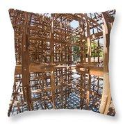 Barcelona Sculpture, Spain Throw Pillow