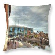 Barclaycard Arena And The Malt House Pub Throw Pillow