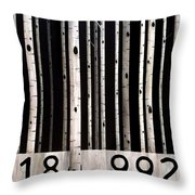 Barcode #19 Throw Pillow