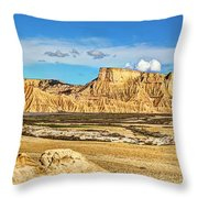 Bardenas Desert Panorama 3 Throw Pillow