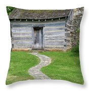 Bardstown Log School House Throw Pillow