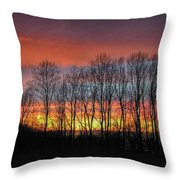 Bare-branched Beauty Throw Pillow