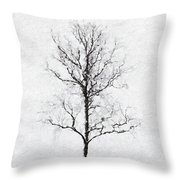 Bare Tree Throw Pillow