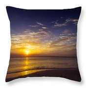 Barefoot Beach Preserve Sunset Throw Pillow