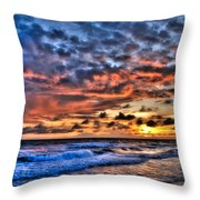 Barefoot Beach Sunset Throw Pillow