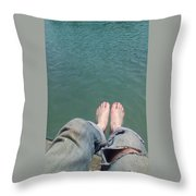 Barefoot In Nature Throw Pillow