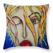 Barfly Morning Throw Pillow