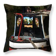 Barge Art Throw Pillow