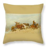 Barge Haulers Throw Pillow