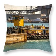 Barge Movement With The Morgan Throw Pillow