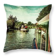 10946 Cruising On The Grand Union Canal Throw Pillow