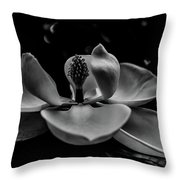 Baring Her Soul - B/w3 Throw Pillow