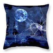 Bark At The Moon Throw Pillow