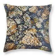 Bark Batik Ink #22 Throw Pillow
