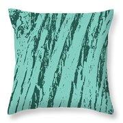 Bark Texture Turquoise Throw Pillow