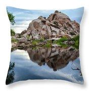 Barker Dam Reflection Throw Pillow