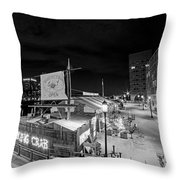 Barking Crab Boston Ma Black And White Throw Pillow