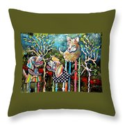Barking Up The Wrong Tree Throw Pillow
