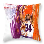 Barkley Throw Pillow by Ken Meyer jr