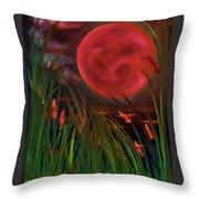 Barley Spike Moon Throw Pillow