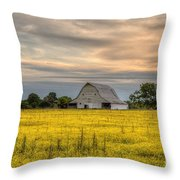 Barm In A Yellow Field Throw Pillow