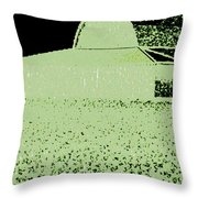 Barn Abstract Throw Pillow