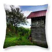 Barn After Rain Throw Pillow