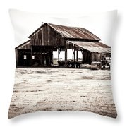 Barn And Irrigation Pipes Throw Pillow