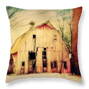 Barn For Sale Throw Pillow