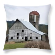 Barn And Silo Throw Pillow
