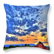 Barn And Sky Throw Pillow