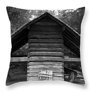 Barn And Wagon Throw Pillow