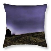 Barn At Dusk Throw Pillow