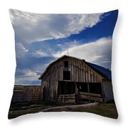 Barn At Fisher Ranch Throw Pillow