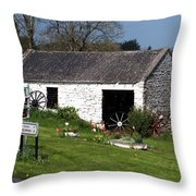 Barn At Fuerty Church Roscommon Ireland Throw Pillow