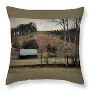 Barn At The Bottom Of The Hill Throw Pillow