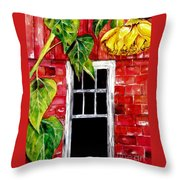 Barn Blloms Throw Pillow