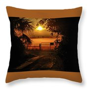 Barn Bridge Throw Pillow