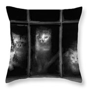 Barn Cats Throw Pillow