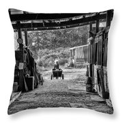 Barn Chores Throw Pillow