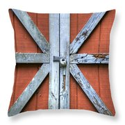 Barn Door 2 Throw Pillow by Dustin K Ryan