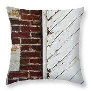 Barn Door Abstract Throw Pillow