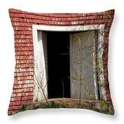 Barn Door And Cedar Throw Pillow
