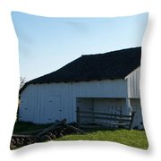 Barn Gettysburg Battle Field Throw Pillow